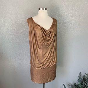 Gucci / Tom Ford metallic mini dress XS